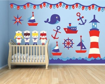 Nautical Nursery Wall Decor ocean nursery ocean wall decals ocean wall art ocean