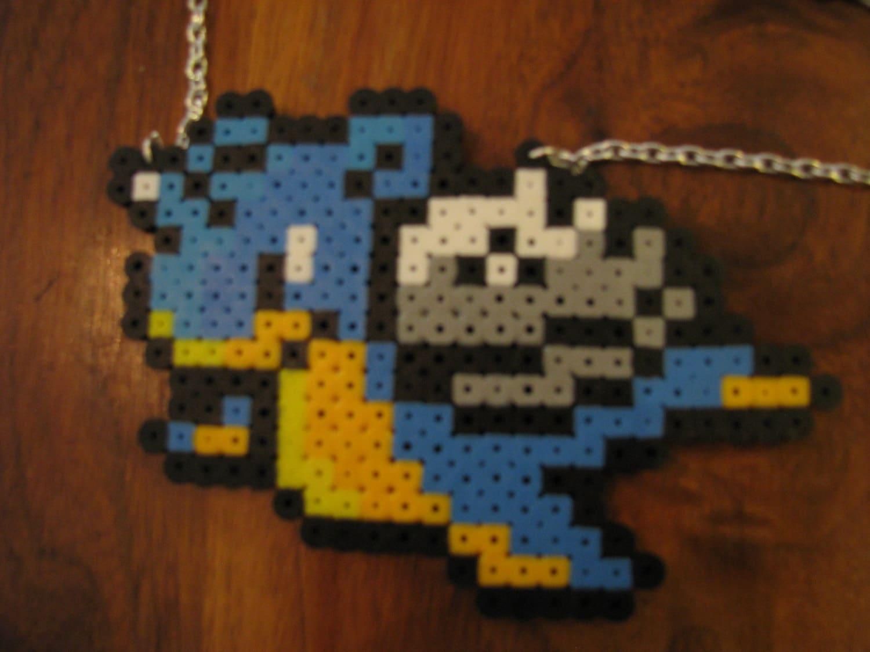 lapras perler bead necklace by animezingshop