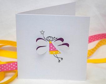 Fairy Card - Paper Cut Handmade Greeting Card