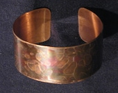 Rainbow copper cuff - Handmade original bracelet - One of a kind - mapiebijoux