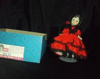 "Vintage 8"" Madame Alexander doll/SPAIN"