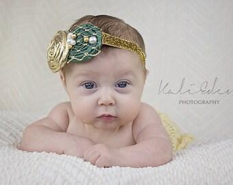 The Emerald Isle Headband or Hair Clip