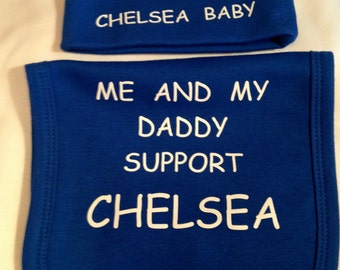 Hat & bib 0-3m only any team