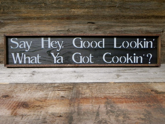 Kitchen Wall Decor Handmade Wood Sign Rustic Country Signs Funny