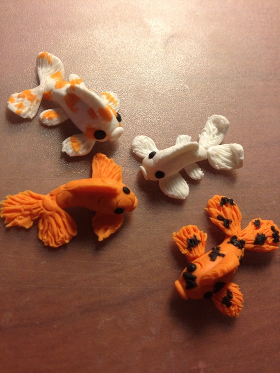 Items similar to koi fish polymer clay figurines qty 1 on for Koi fish figurines