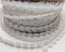 5 Yards Small White Flower Pearl Trim Bead Accent for Crafting, Scrapbooking, Decoration