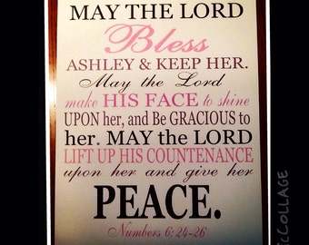 May the Lord Print x custom scripture Print