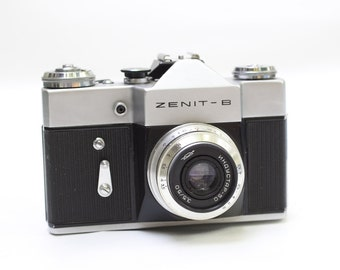 Vintage Zenit B Camera, Collectors Box  Lens Reflex Camera, Not Working, USSR Camera