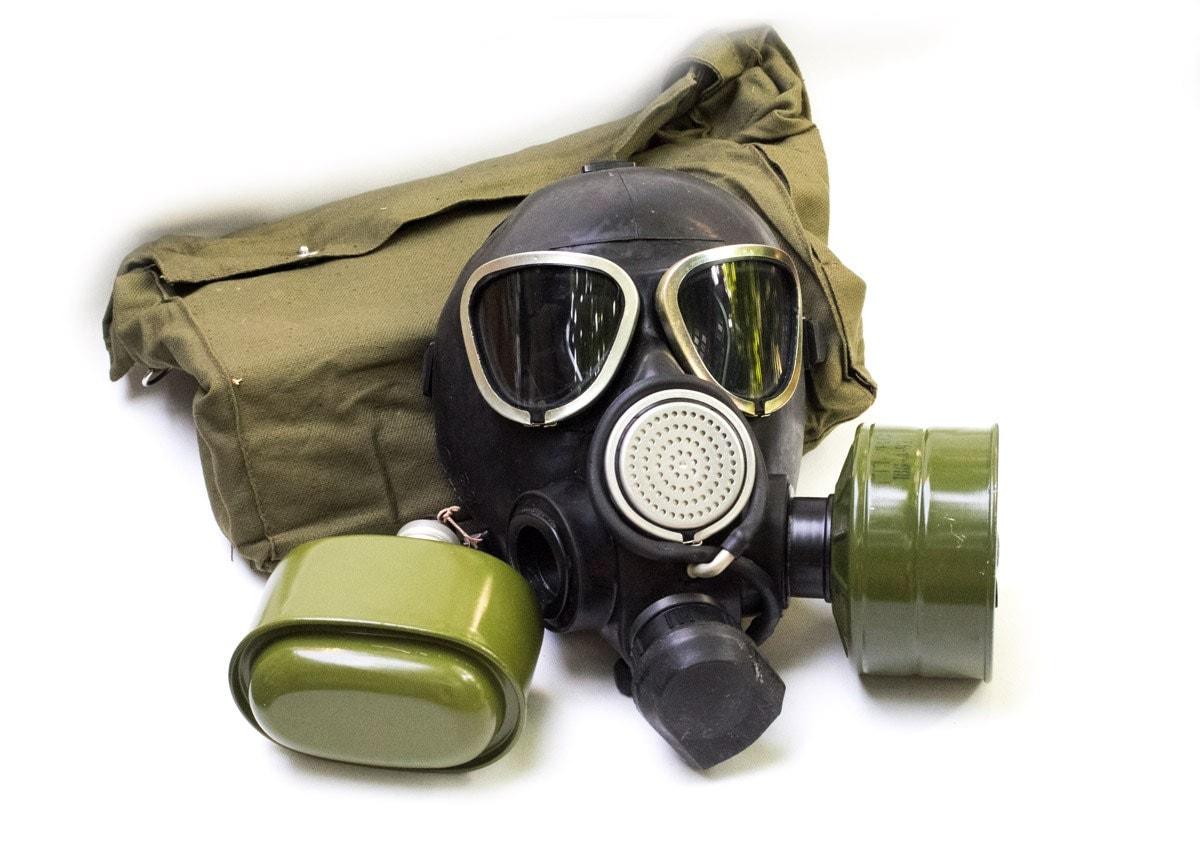 Vintage GP-7VM Commander Soviet Luxury Black Gas Mask Soviet