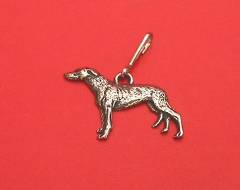 Greyhound Dog Pewter Motif Zipper Pull Mothers Day Gift