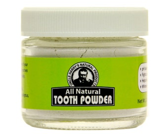Uncle Harry's Natural Tooth Powder (2 oz glass jar)