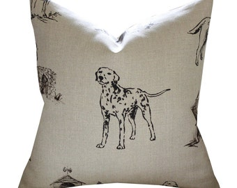 "20"" Sq Mulberry Kennel Club Pillow Cover in Natural"