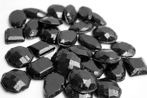Black edible jewels hard candy 60 candy pack cake - Jewel cake decorations ...