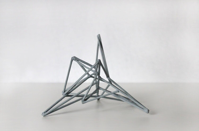 Geometric minimal art home decor art sculpture triangle for Minimal art zusammenfassung