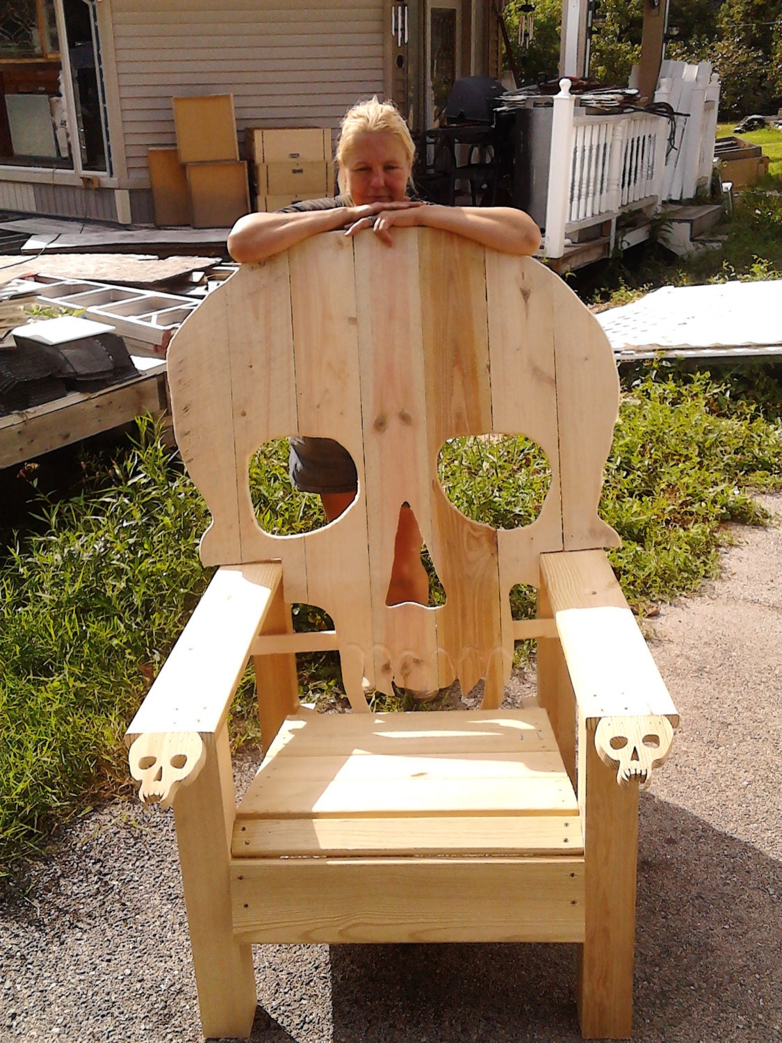 Skull Chair Adirondack Chair Yard Furniture By Emmanddoubleyas