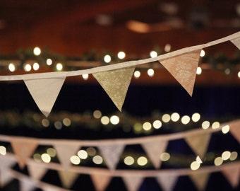 Handmade Rustic/Vintage Wedding Bunting