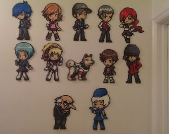 Persona 3 Cast Character - One Perler Bead Sprite