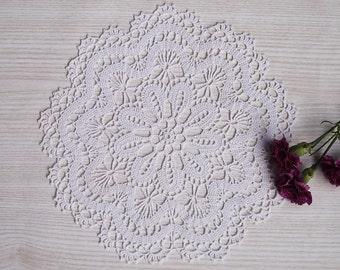 White Lace Crochet Doily , Crochet Round Doily, Lace Table Decor, Crochet White Table Decorative Cover, Crochet Centerpiece, Houseware