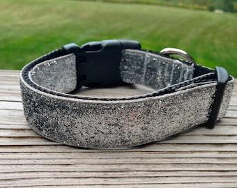 Dog Collar- Silver Glitter