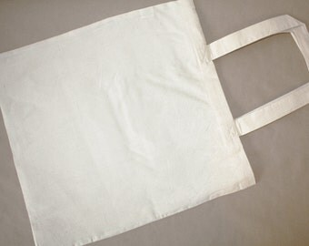 Set of 5  Unbleached Plain Cotton Canvas Tote Bag. Great for DIY Crafts, projects 15x16