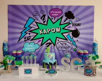 Mix and Match Collection for a Superhero Party / Choose any 4 of the 10 items