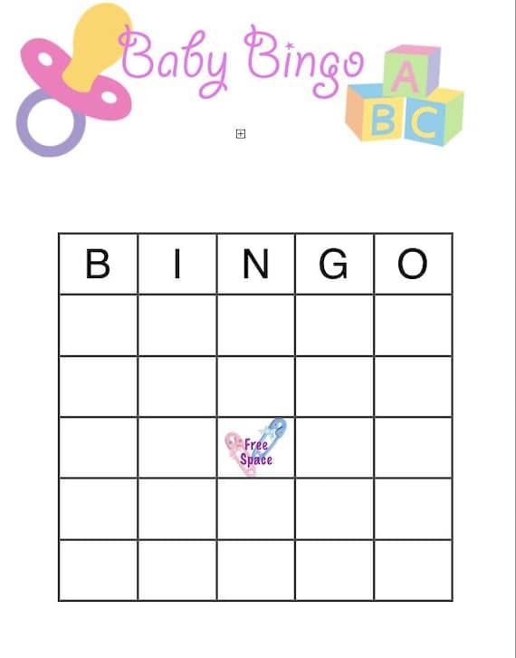 items similar to baby shower bingo on etsy