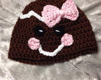 Crochet gingerbread hat