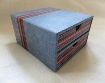 Set of two mini Creative Memories Albums with storage box