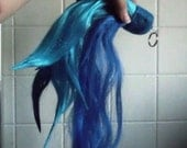 Vinyl scratch Two tone Blue DJ Pon 3 Unicorn Horse My Little Pony Tail Cosplay