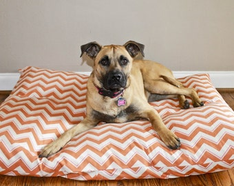 Custom Made XL Extra Large Washable Dog Bed Cover - Made to order in 3 weeks- Recycle Your Old Pillows