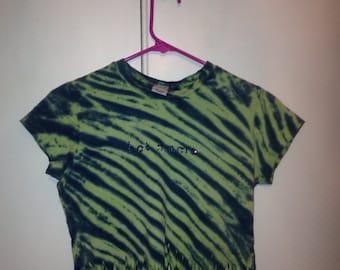 """SALE Upcycled vintage festival tie dye fringe """"hot mama"""" tshirt"""