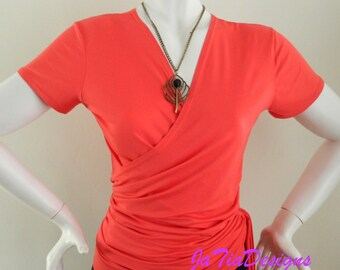 Womens Maternity Top Short Cap sleeved Style Soft Comfortable  Versatile Jersey Ruched