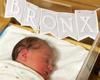 Newborn banner, Baby banner, name banner