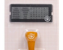 American Crafts Amy Tangerine Yes Please Calendar Stamp Set, Rubber Date Stamp, Scrapbooking Supplies, Rubber Stamps, Item 59174