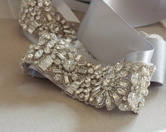 Wedding Sash Belt -  Noahl  20 inches (Made to Order)