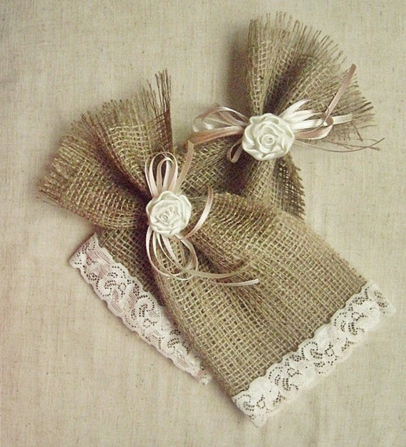 Wedding Gift Bags Etsy : Wedding Favor Bags Set of 12 Thank You Bag Gift Bag Burlap Favor Bag ...
