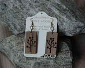 Elegant tree - Wooden earrings