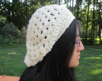 Crocheted Slouch Beret