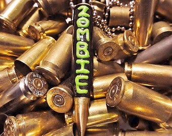 5.56 Green Zombie Bullet Necklace