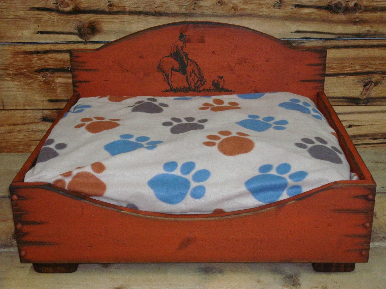 Medium Dog Bed Western Dog Bed Wood Dog Bed Rustic Dog Bed