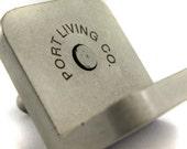 Custom Engraved Concrete Business Card Holder. Concrete Card Holder. Business Card Holder.