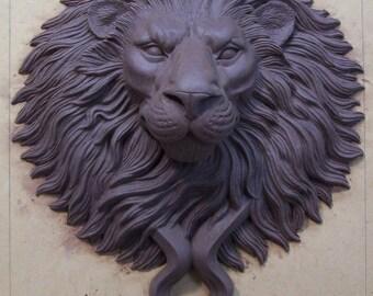 Large bronze lion head door knocker pull - Large lion head door knocker ...