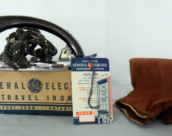 Vintage 1950's General Electric Travel Iron
