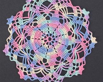 "7"" Pastels Variegated - Rainbow Star Doily"