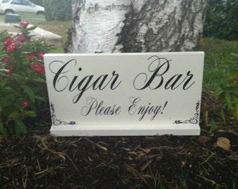 Wedding Signs -- Cigar Bar Sign - Custom Wood Signs -- Photo Prop