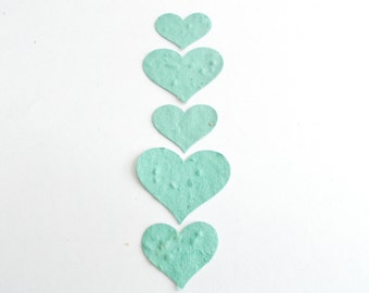 100 Sage Green Plantable Seed Favors  -  Eco Friendly Paper Embedded With Seeds - Recycle by Planting