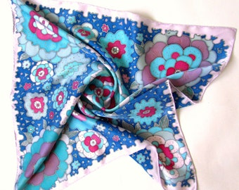 Hand Painted Silk Scarf. Handmade Scarves. Batik Shawl.Hand painted silk scarf 'Lollipops''Made to order.