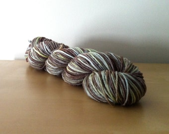 Olives - 100% Superwash Merino Hank/Skein - Gray Brown Green