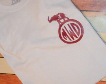 Monogrammed Alabama shirt
