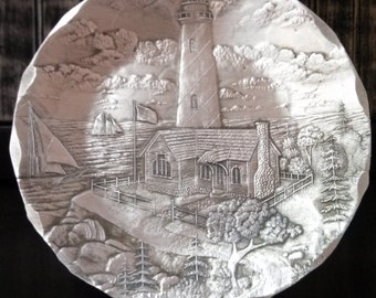 Lighthouse Candle Plate
